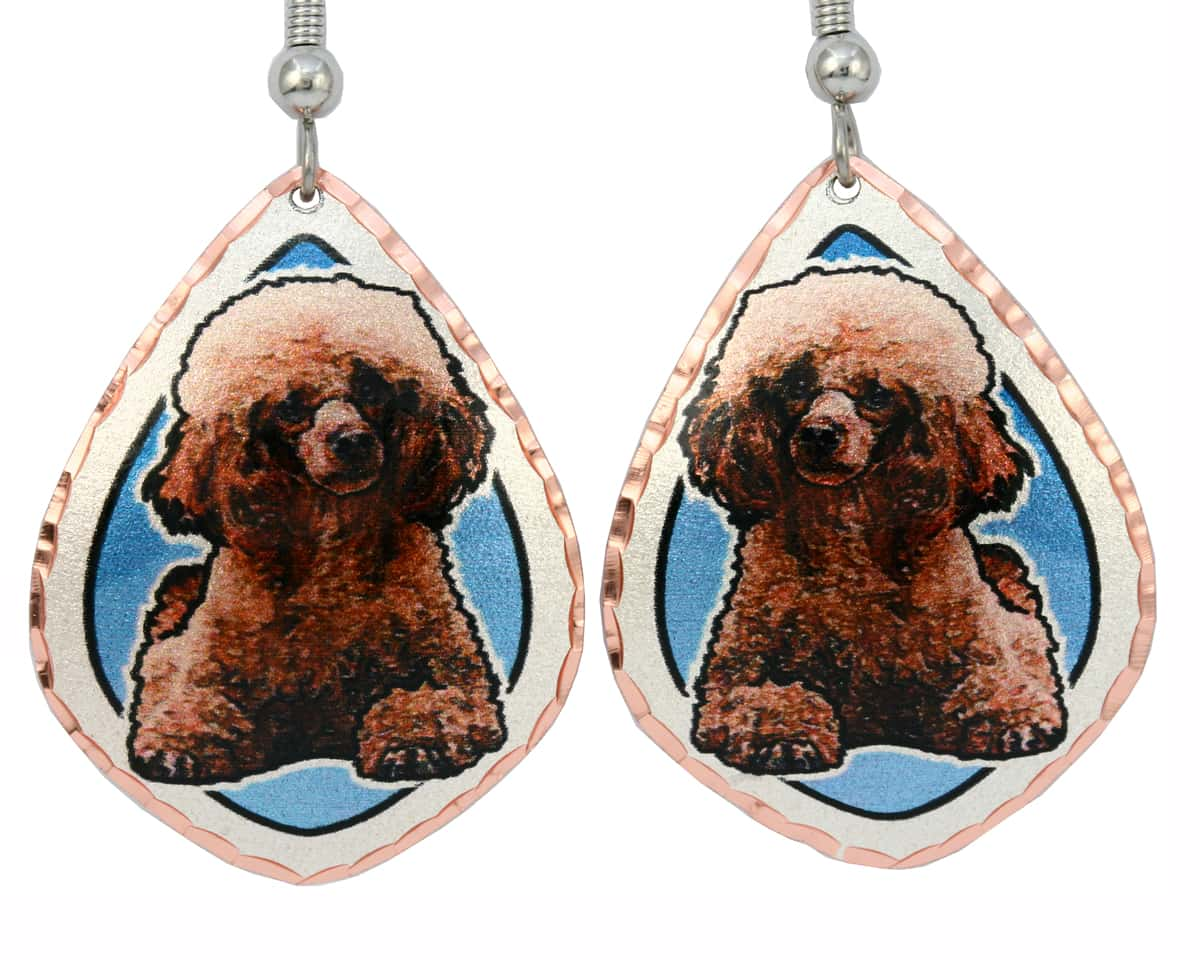 Cute Dog Jewelry Poodle Earrings