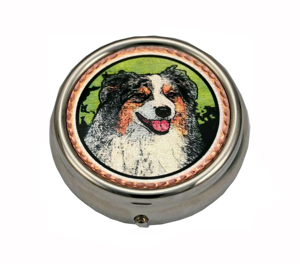 Australian Shepherd Dog Unique Pill Boxes