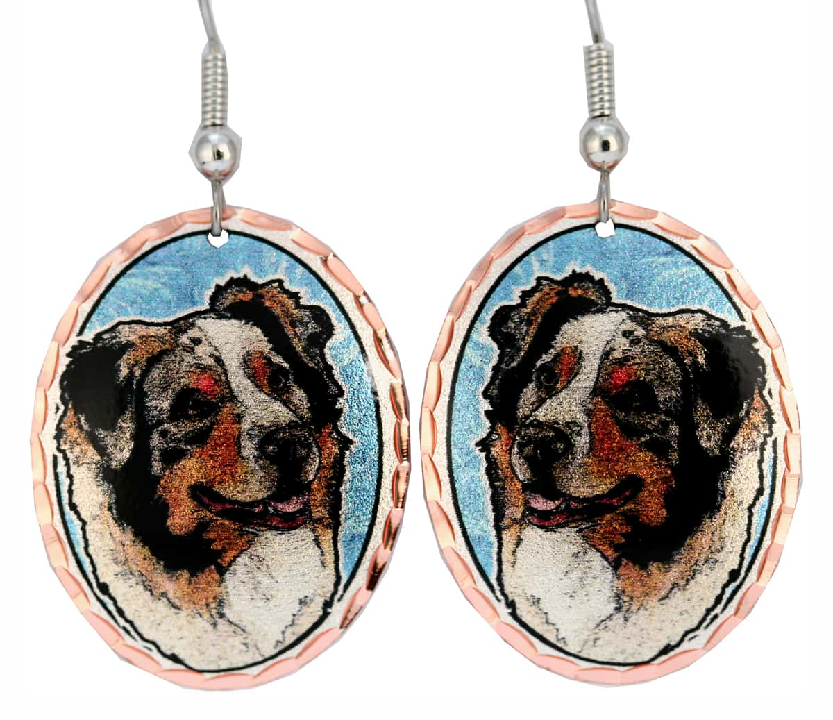 Australian Shepherd Unique Dog Jewelry Earrings