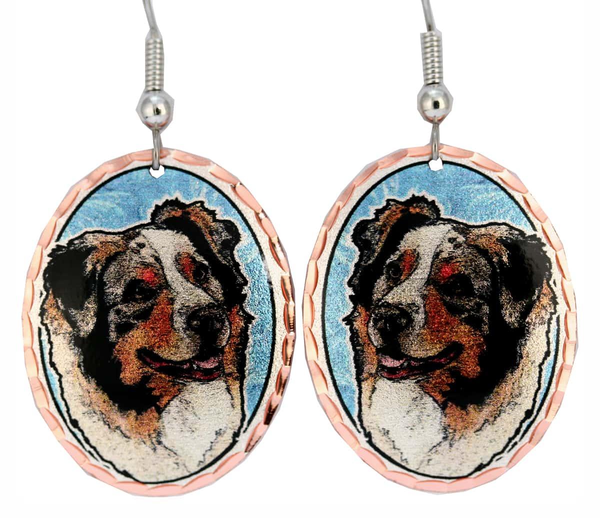 Australian Shepherd Unique Dog Earrings