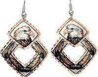 Bald Eagle and Feathers Earrings