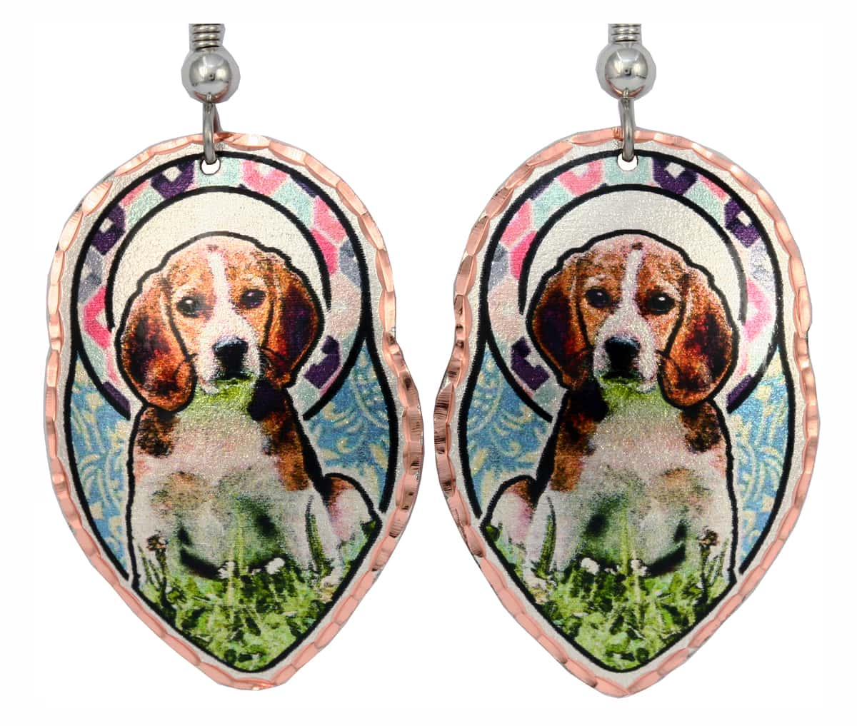 Cute Beagle Dog Jewelry Handmade Earrings