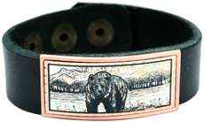 Grizzly Bear Leather Bracelets