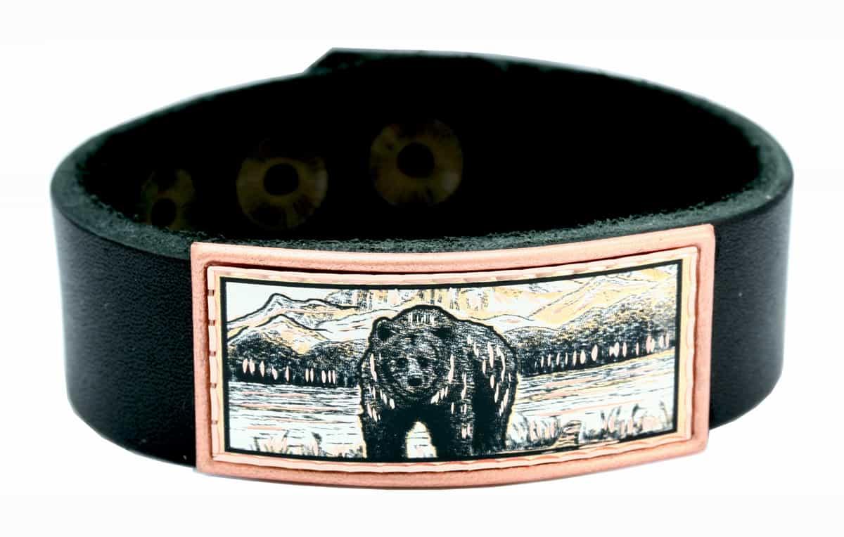 Grizzly Bear Leather Bracelets