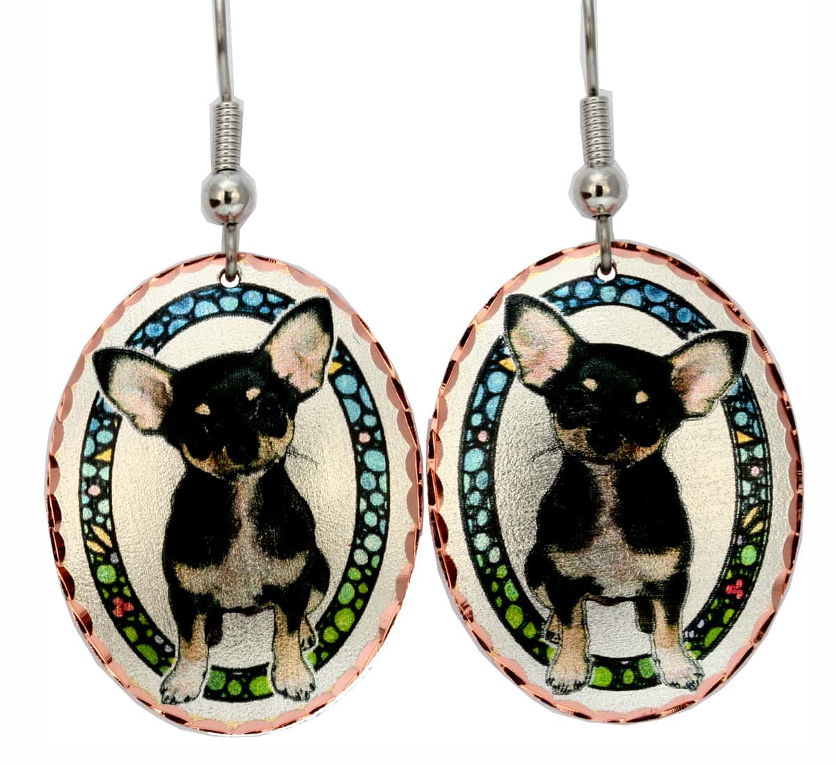 Chihuahua Dog Jewelry Earrings