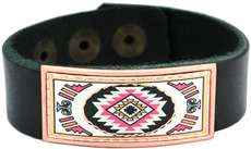 SW Native Handmade Leather Cuff Bracelet