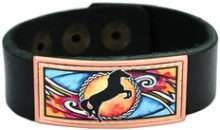 Colorful Western Horse Leather Bracelet LLB-22