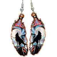 Feather Copper Earrings