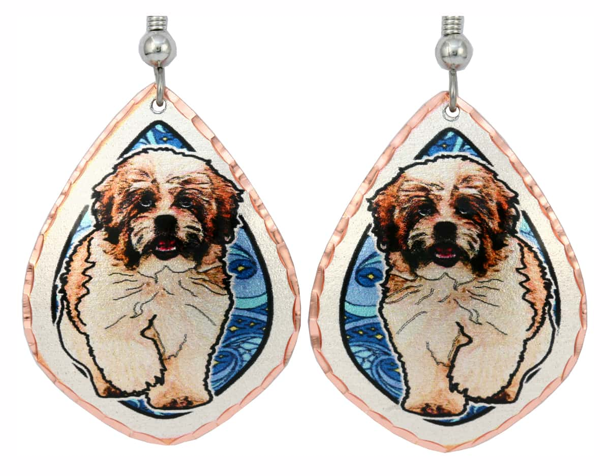 Cute Dog Jewelry Shih Tzu Earrings