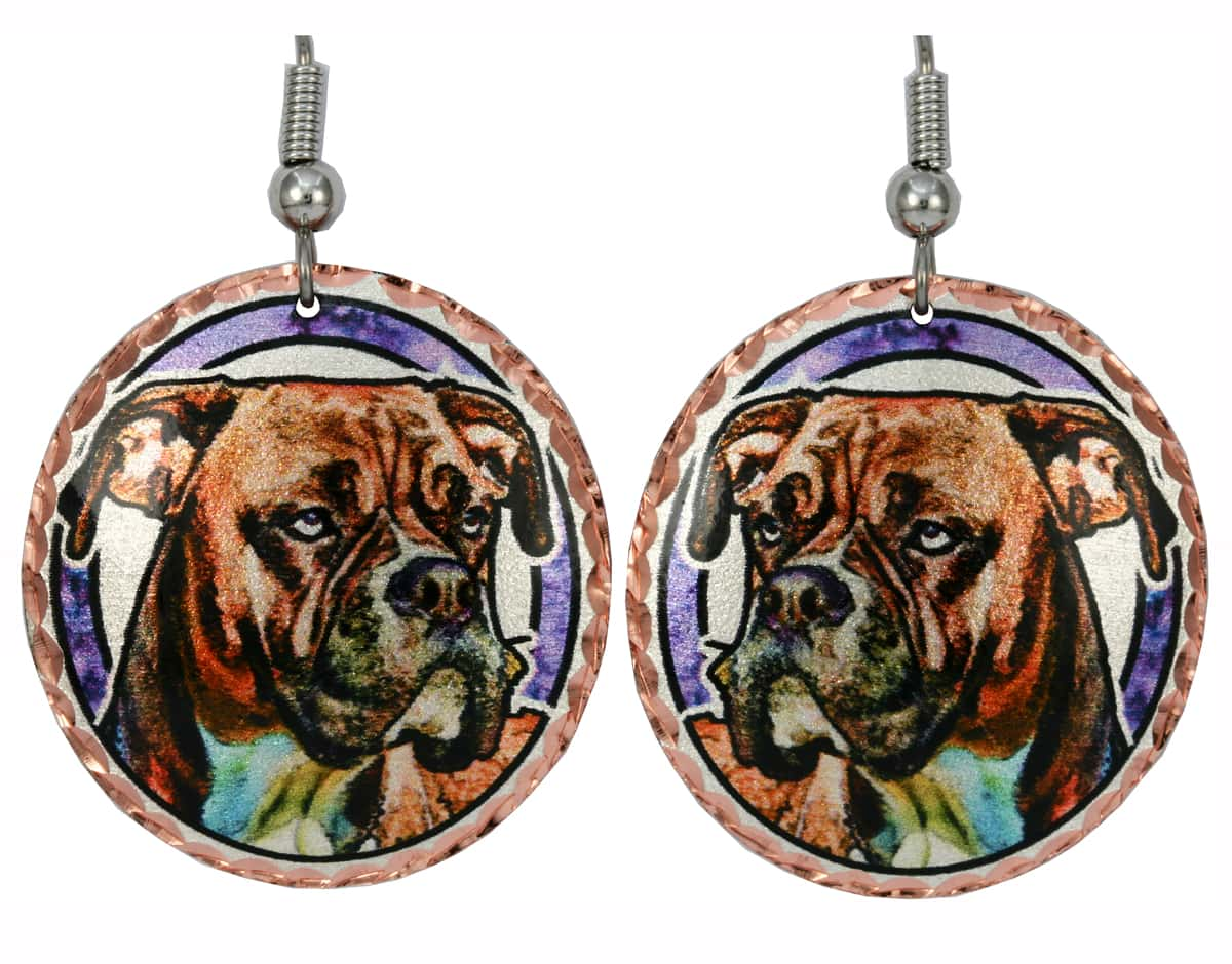 Boxer Earrings, Unique Dog jewelry