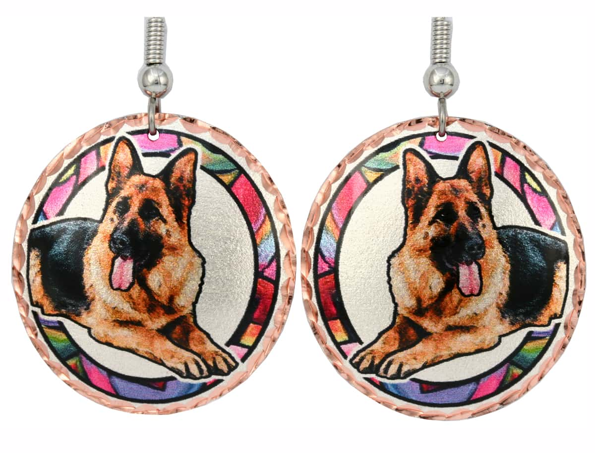 Dog Jewelry, German Shepherd Earrings
