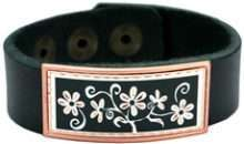 Flower Art Leather Bracelets