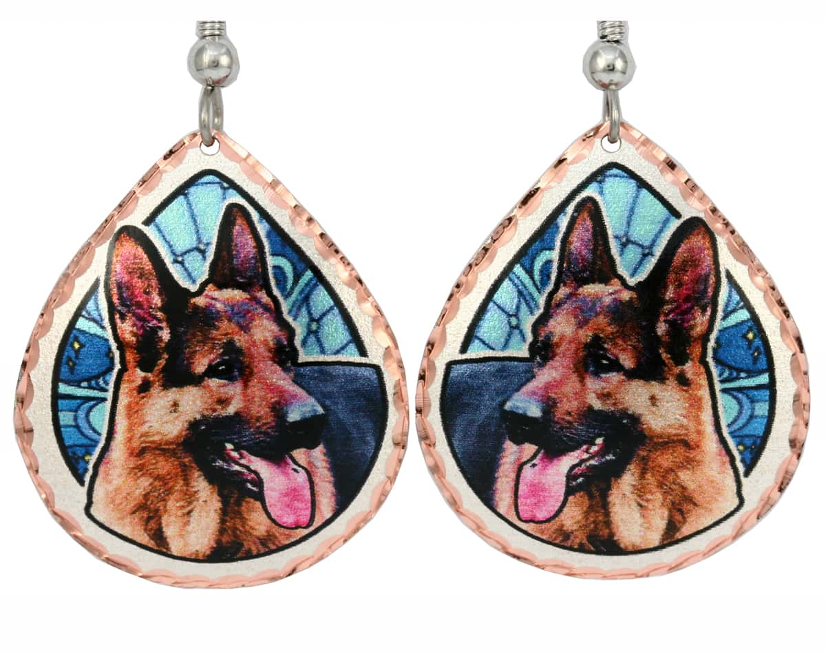 German Shepherd Earrings, Jewelry For Dog Lovers