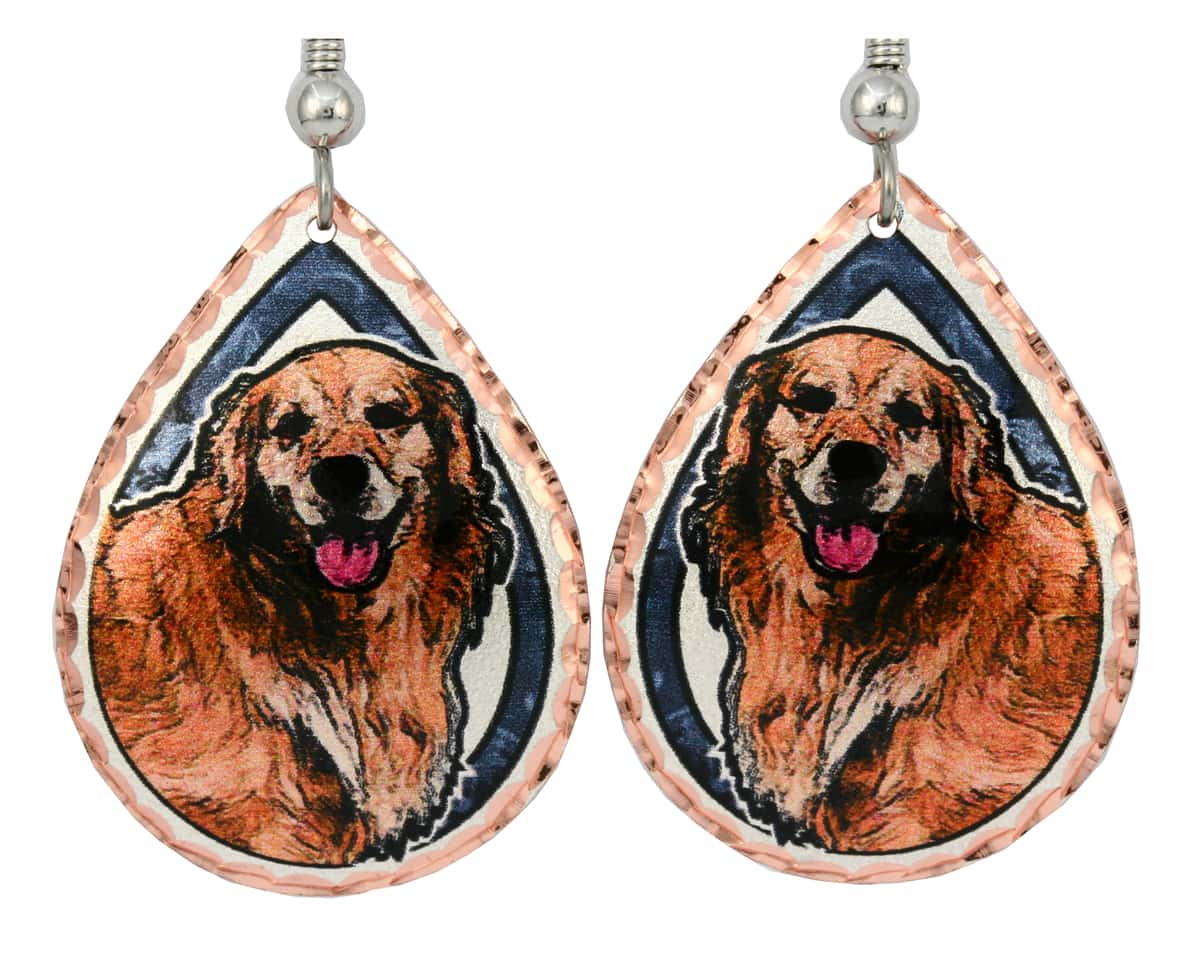 Golden Retriever Earrings, Dog Jewelry for Dog Lovers