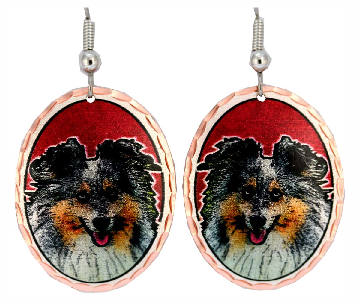 Dog Themed Jewelry, Sheltie Earrings