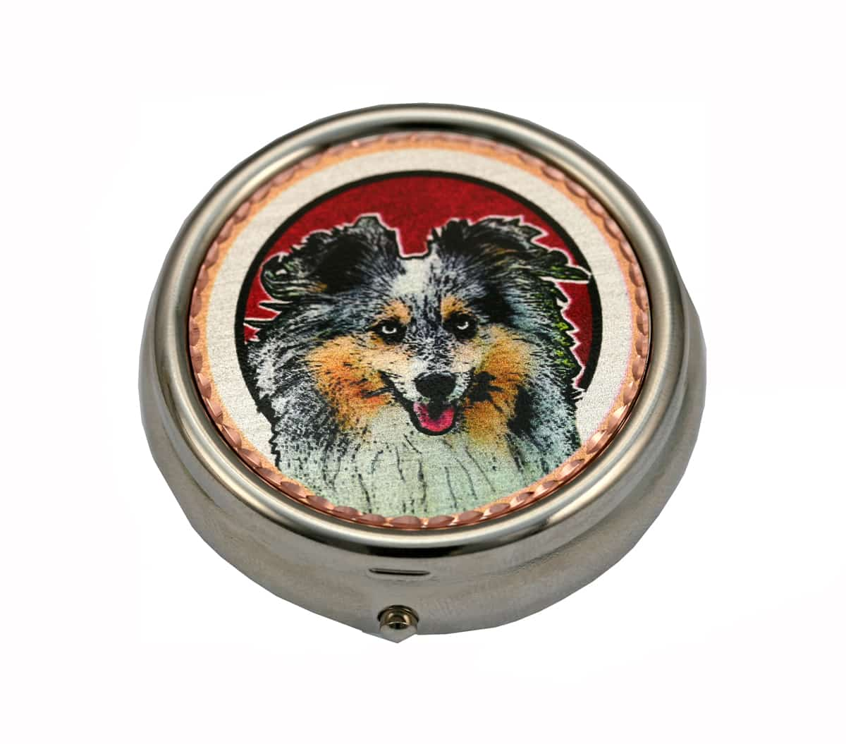 Handmade Dog Gifts Sheltie Pill Boxes