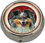 Handmade Sheltie Pill Boxes Dog Gifts