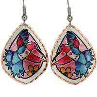Jo Lynch Designed Earrings, Hummingbird Jewelry