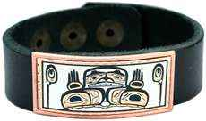 Leather Bracelet Created in NW Native Hands of Creation