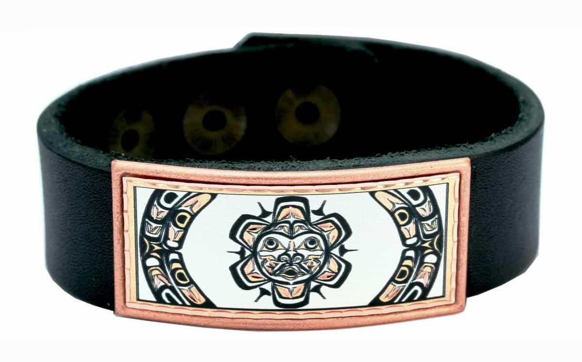 Native Sun Totem Leather Bracelets
