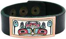 NW Native Hands of Creation Leather Bracelets