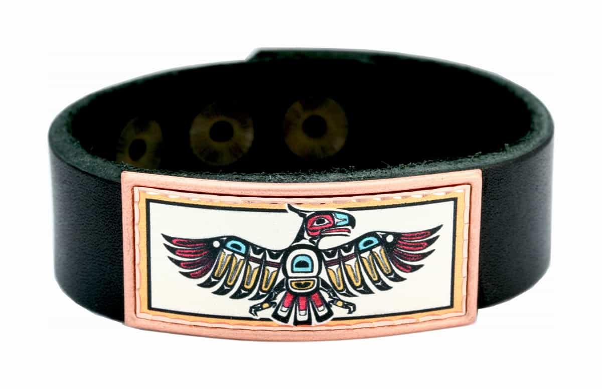 NW Native Thunderbird Leather Bracelets