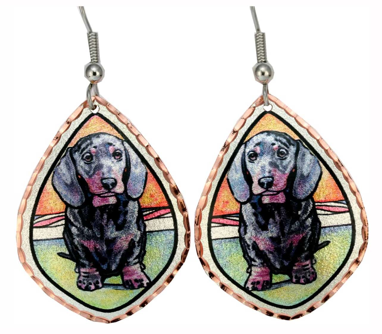 Dog Jewelry, Dash Hound Earrings