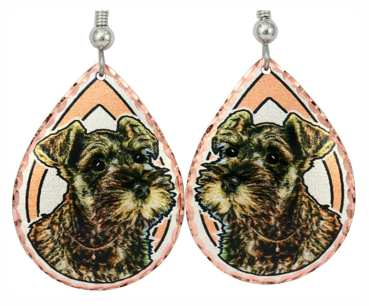 Miniature Schnauzer Earrings, Dog Jewelry