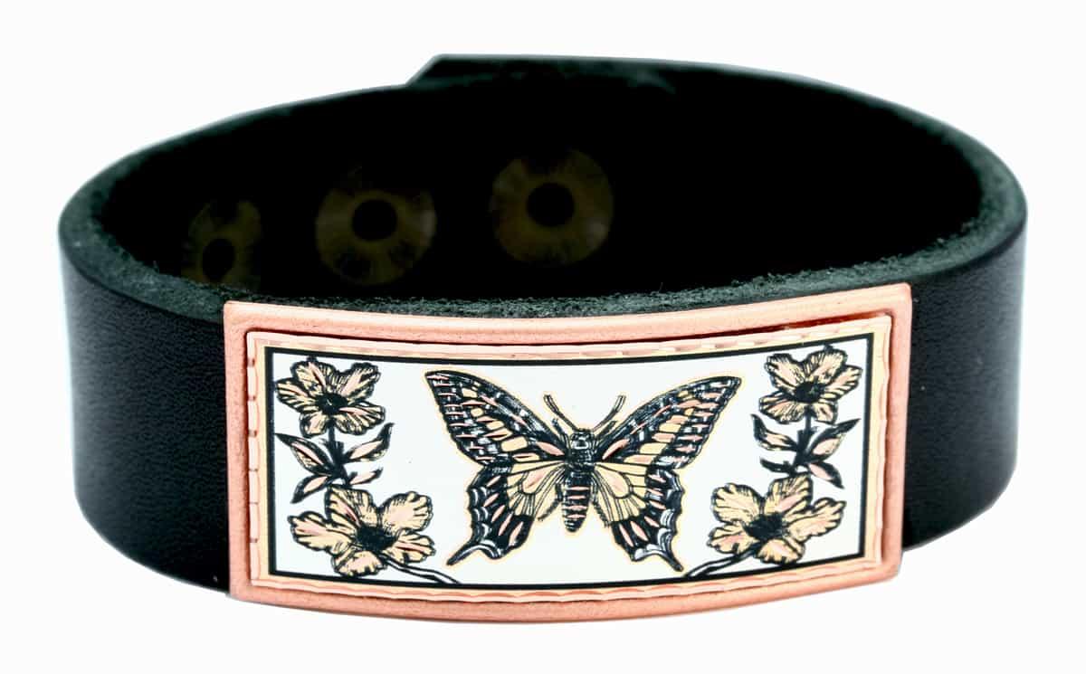 Monarch Butterfly Leather Bracelets