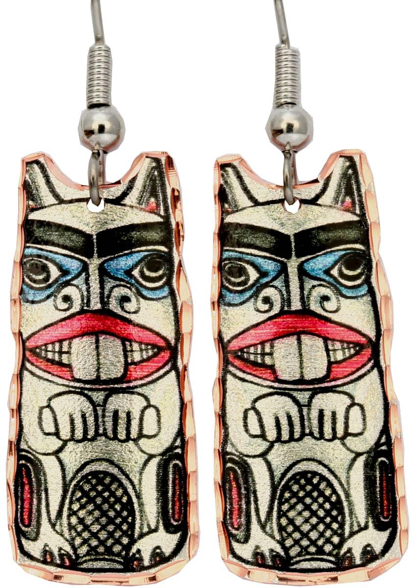 Alaska NW Native Beaver Earrings