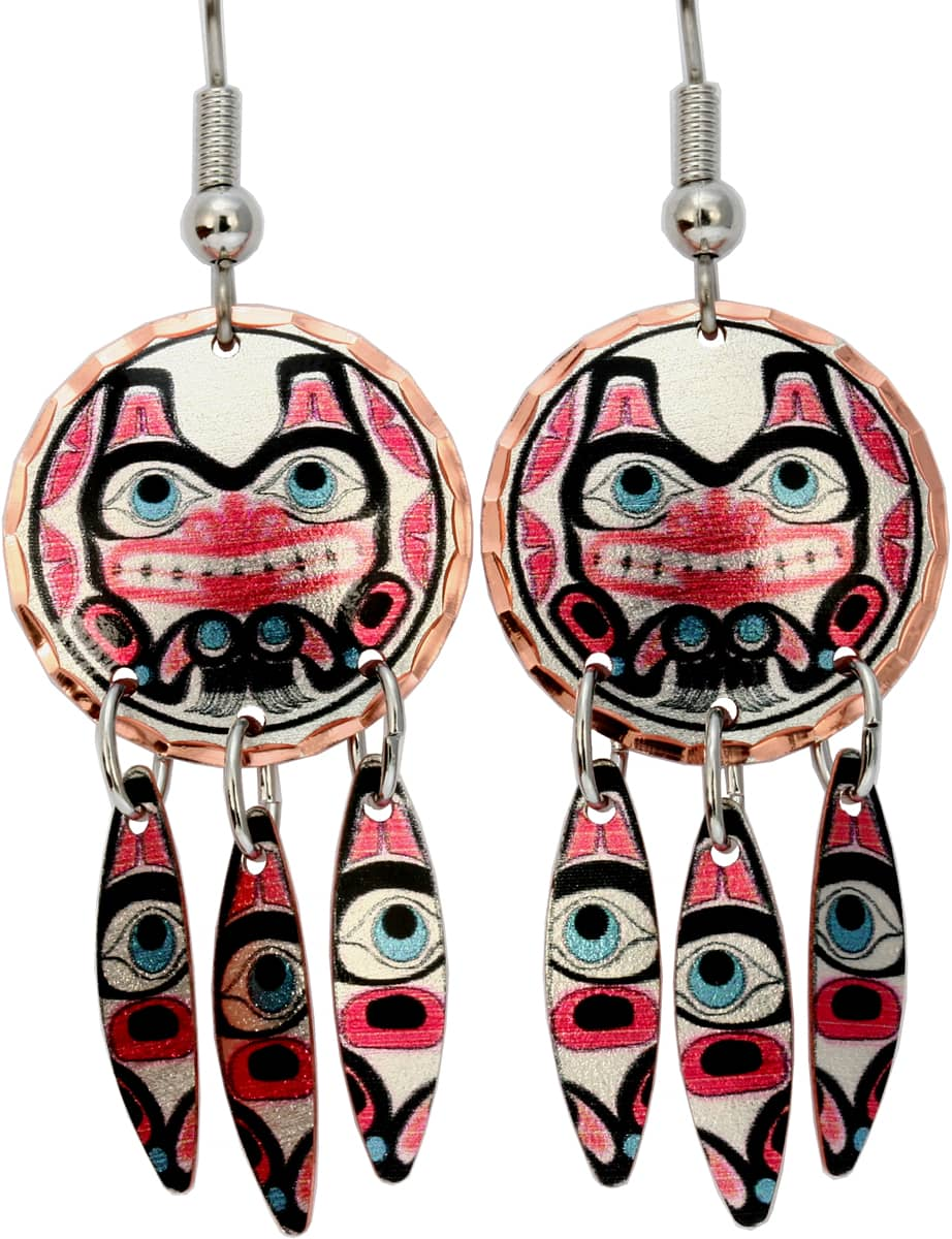 Alaska Native Beaver Dangle Earrings