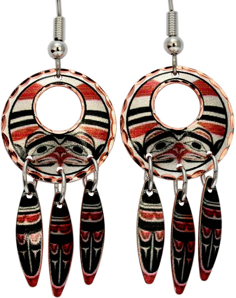 Alaska Native Dangle Bear Earrings
