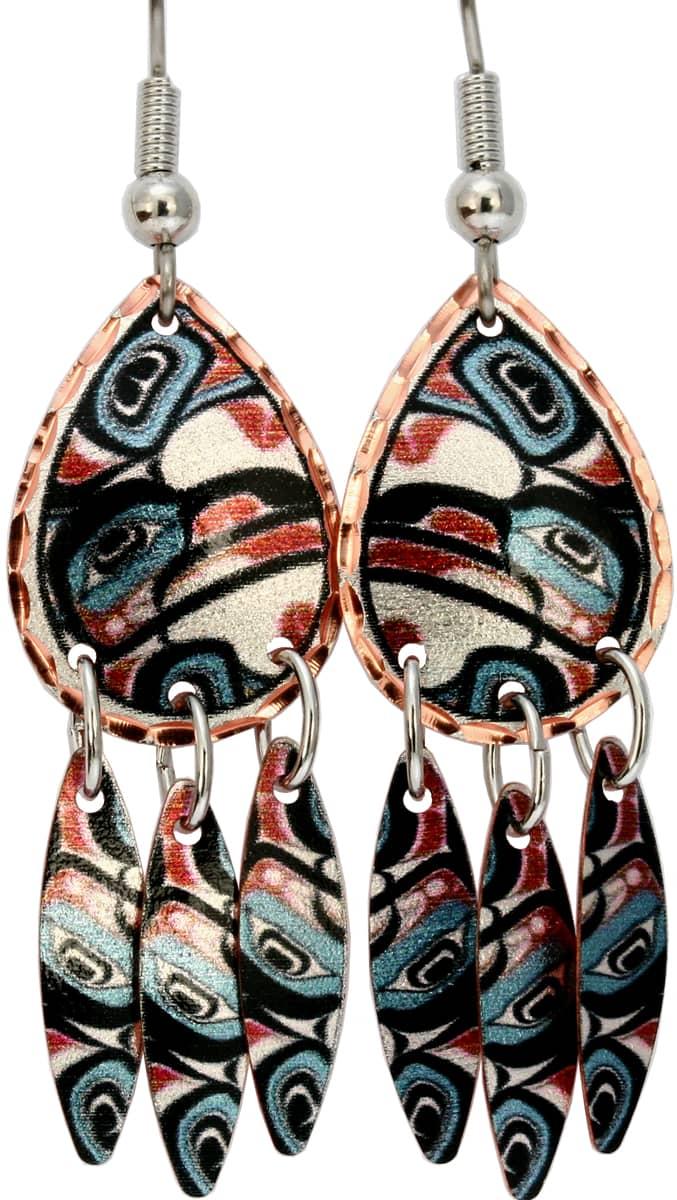 Alaska Native Eagle Dangle Earrings