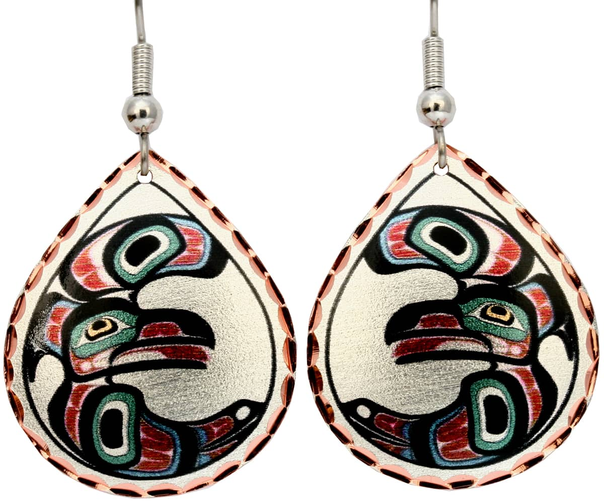 Alaska Native Eagle Earrings