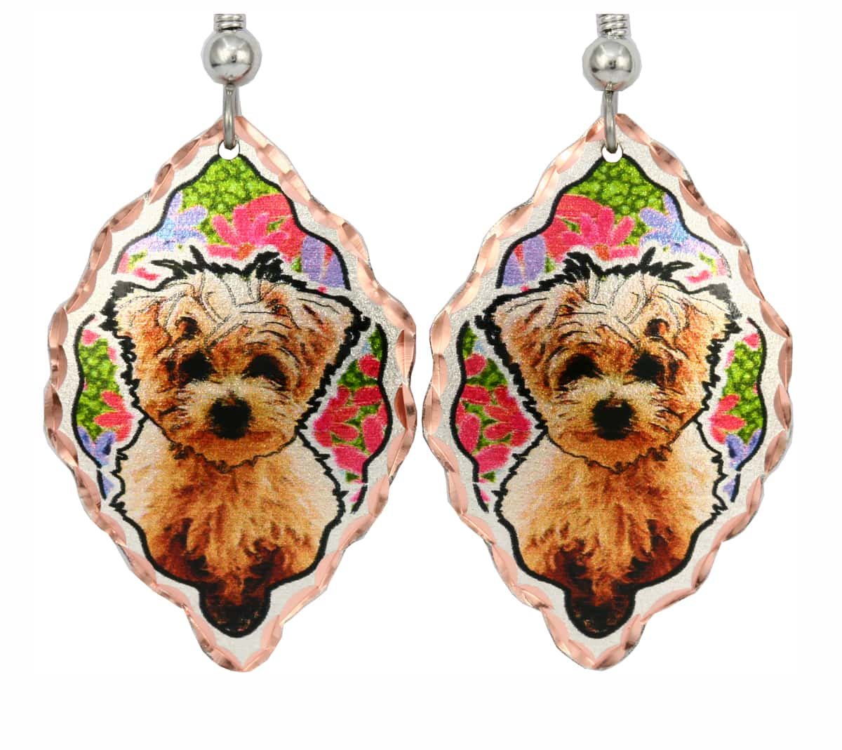 Handmade Dog Jewelry, Poodle Earrings