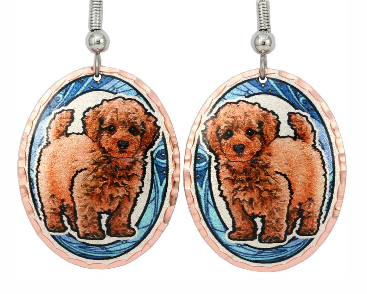 Cute Poodle Earrings