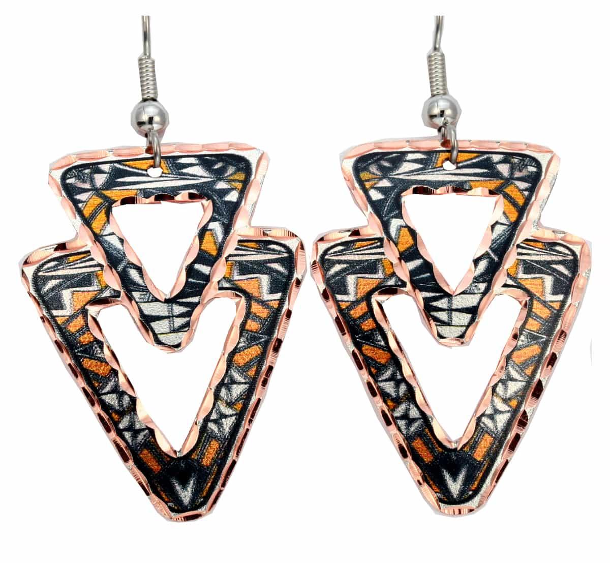 Handmade Unique Earrings, SW Native Pueblo Earrings