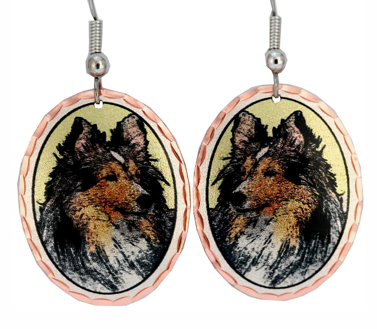 Dog Jewelry, Sheltie Earrings