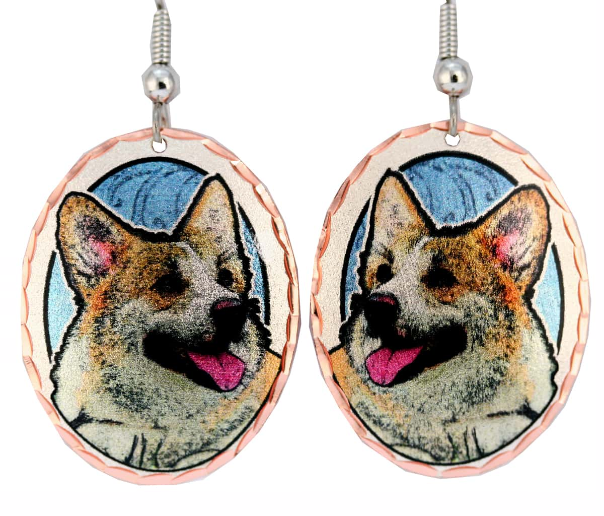 Cardigan Welsh Corgis Earrings, Dog Jewelry