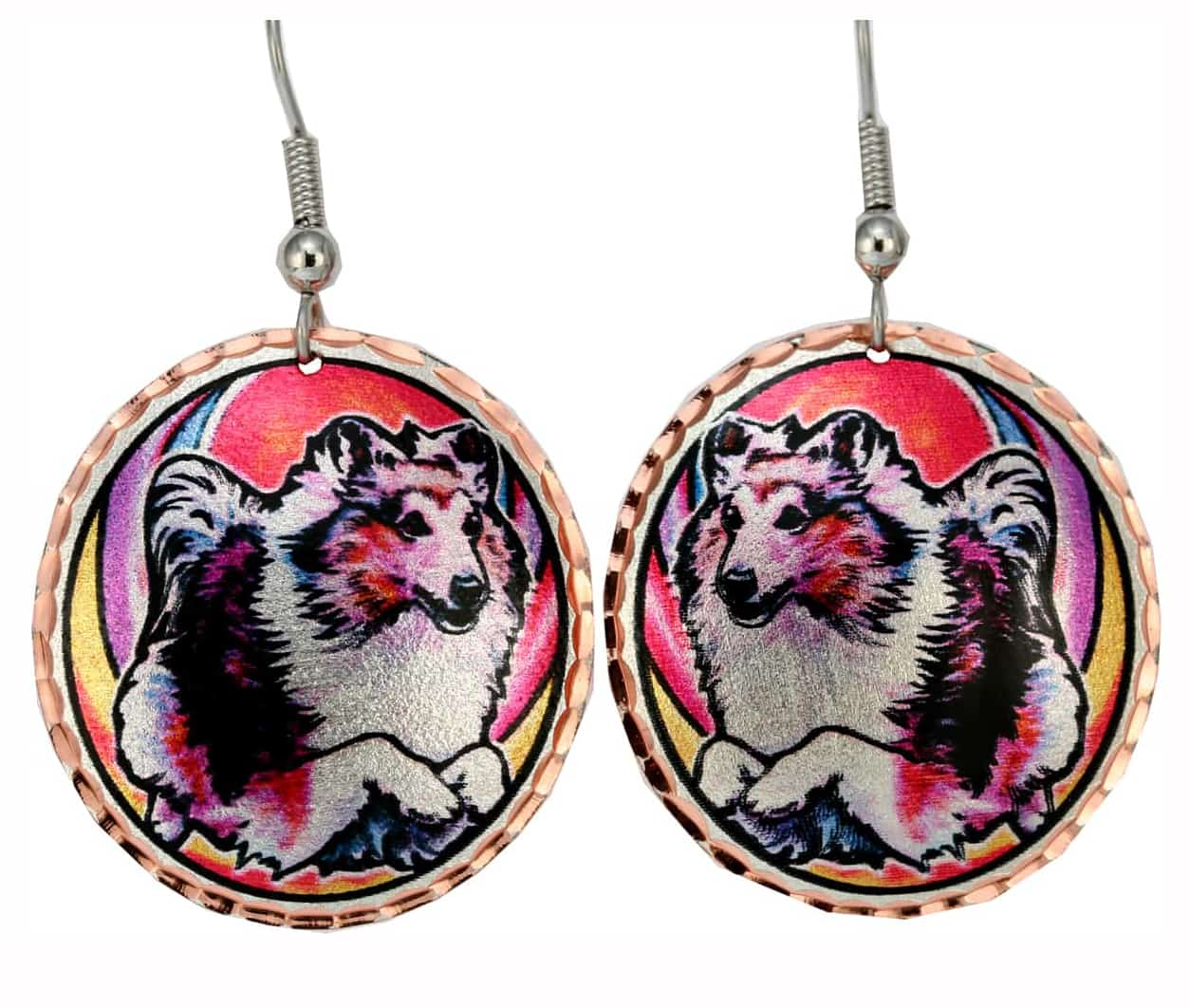 Wholesale Dog Jewelry Sheltie Earrings