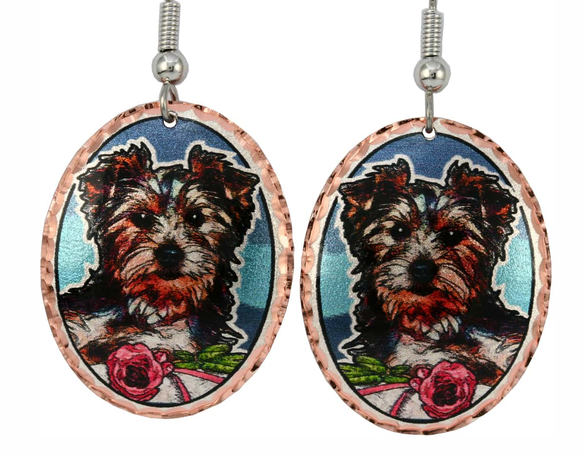 Dog Jewelry, Yorkshire Terrier Earrings