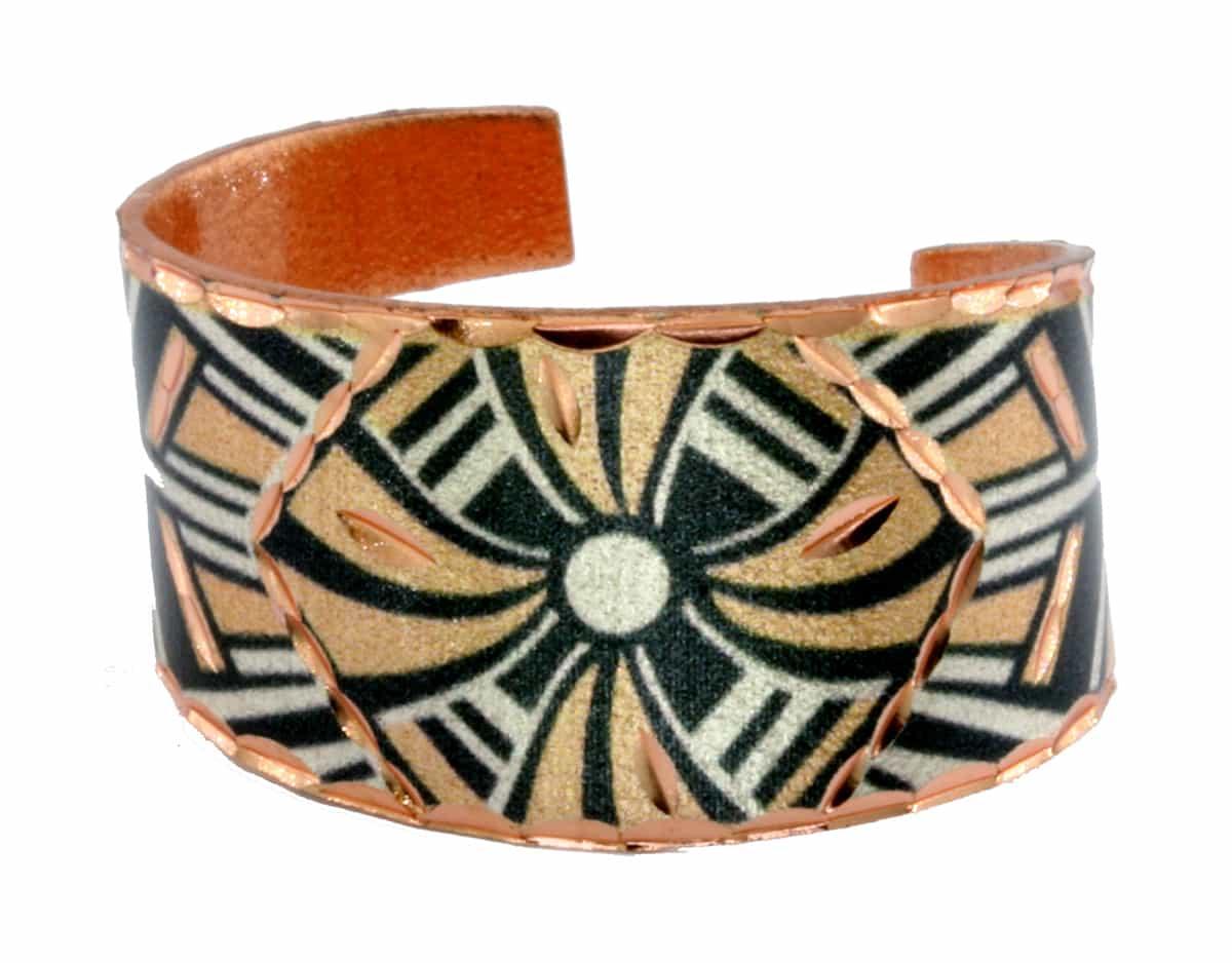 Handmade Copper Rings Art Deco