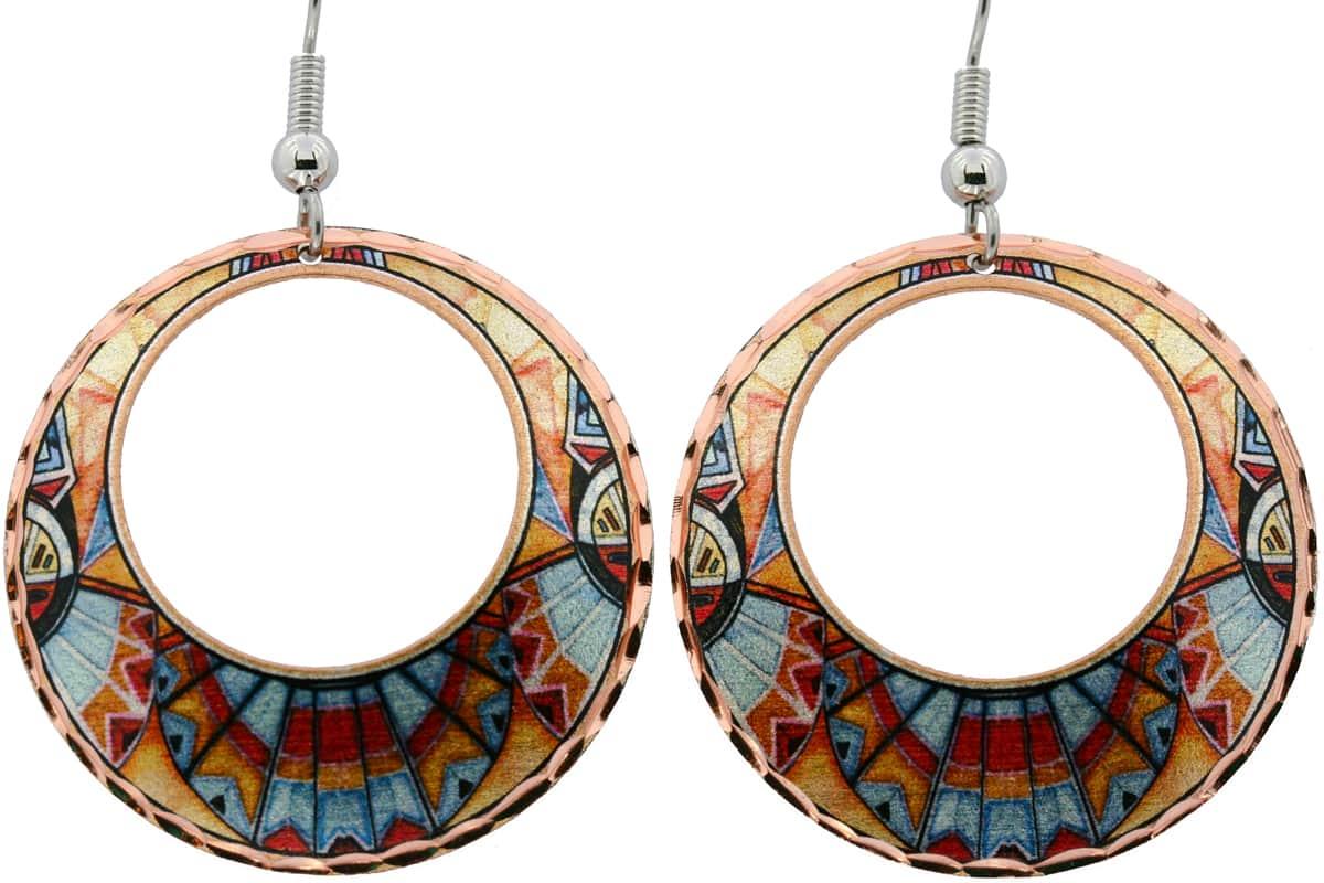 Abstract Kachina Native American Earrings