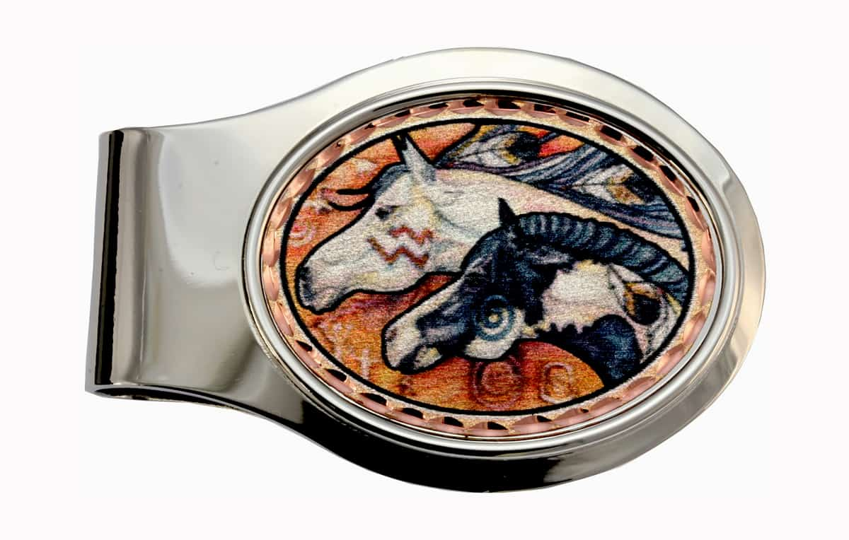 American Indian Horse Money Clips