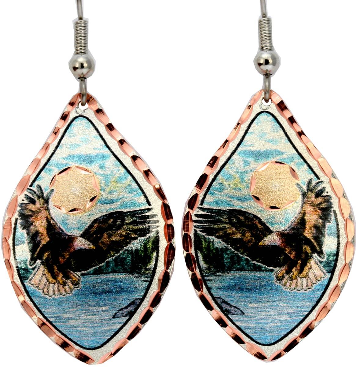 Bald American Eagle Earrings