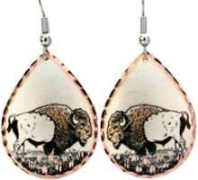 Buffalo Copper Earrings