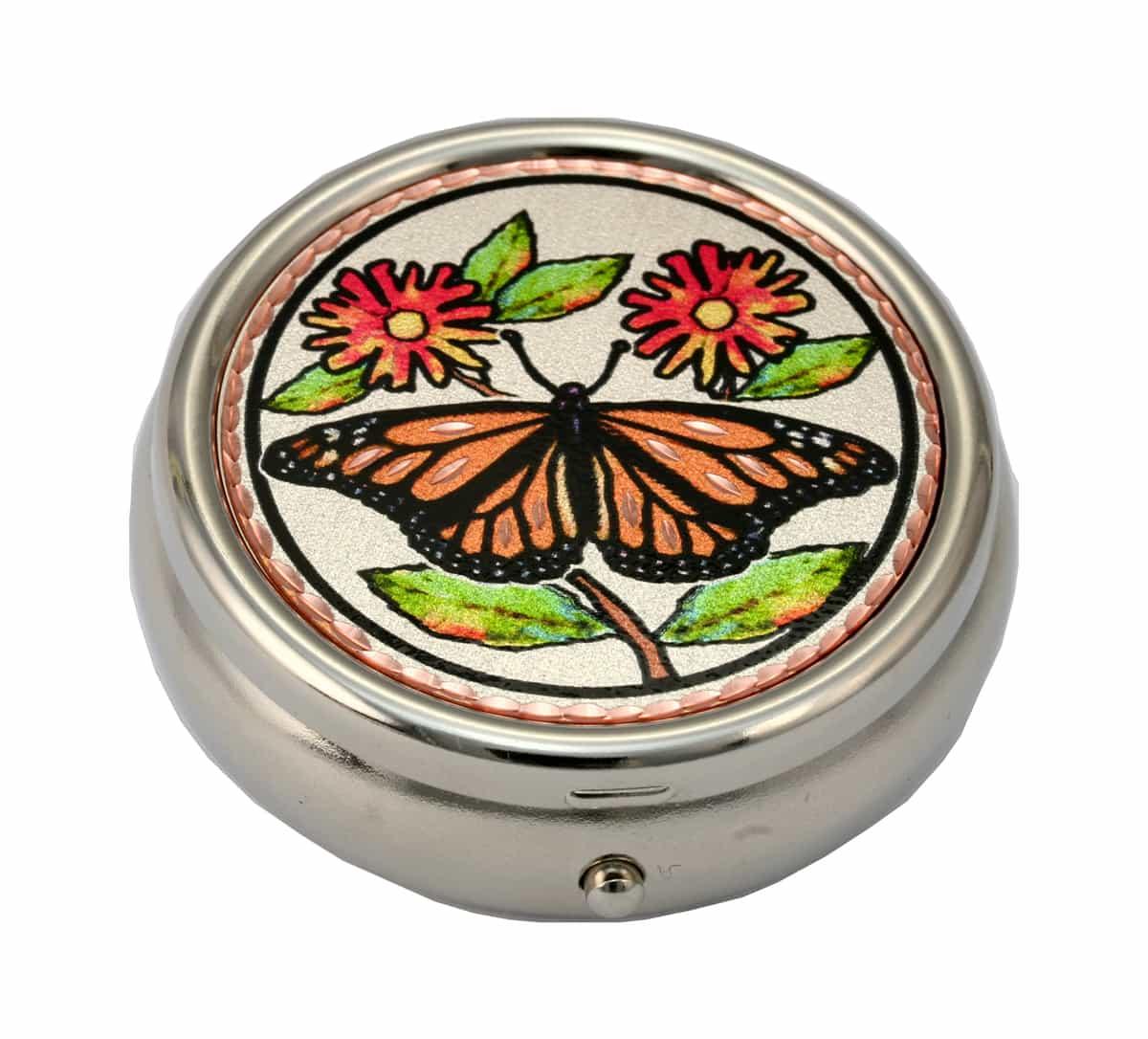 Monarch Butterfly Pill Box