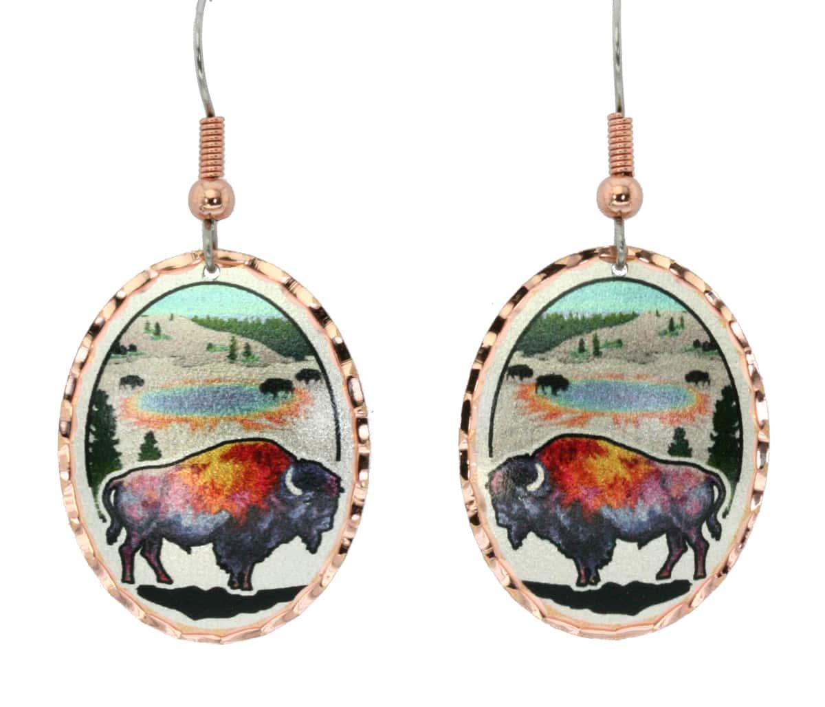 Colorful Buffalo Earrings