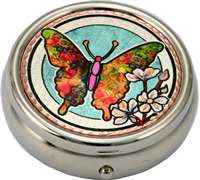 Colorful Butterfly Pill Box
