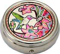 Colorful Hummingbird Pill Boxes